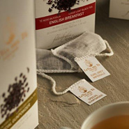 Whole leaf hand stitched cotton tea bags